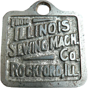 Rare 1890's Vintage Original Illinois Sewing Machine Co. Watch Fob
