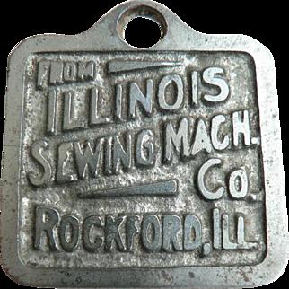 Rare 1890's Vintage Original Illinois Sewing Machine Co. Watch Fob