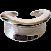Vintage Sterling Silver Modernest Wide Cuff Bracelet