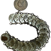 Vintage Meican Centavos Coin Handcrafted Bracelet Authentic Coins C 1946 & 1952