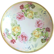 "Prussia Royal Rudolstadt 8.5"" Porcelain Plate with Roses"