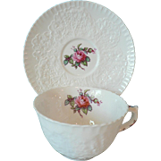 "Vintage Spode Bone China Cup & Saucer "" Bridal Rose "" Pattern Y2862 (No Gold Trim)"