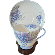 "Beautiful ""Blue Spray"" Forget-Me-Not Floral by ""Shelly"" Cup & Saucer"