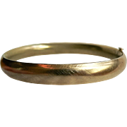 Vintage Hinged Gold Filled Bangle Bracelet