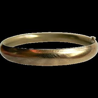 Vintage Hinged Gold Filled Bangle Bracelet