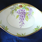 Supreme PT (Tirschenreuth, Bavaria) Large Serving Bowl Wisteria Flowers, Hand Painted Accents