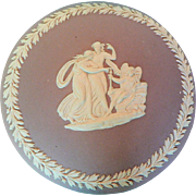 Vintage Wedgwood Lilac Jasperware Jewelry Trinket Powder Box