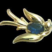 1940s Vintage Swallow Bird Brooch Pin Coro Pegasus Mark