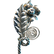 Vintage Sterling Handmade Flower Pin Exquisite!