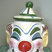1940's-50's Sierra Vista California Ceramic Clown Head Cookie Jar