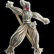 Alfred Phillipe Trifari Rintintin Rag Doll 1943 Sterling Brooch Book Piece