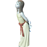 "Retired Lladro Figurine # 5006  "" NAUGHTY GIRL with Straw Hat """