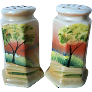Seascape Nippon Salt & Pepper Hand Painted Shakers