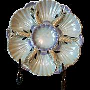 Vintage Limoges Lusterware Oyster Plate