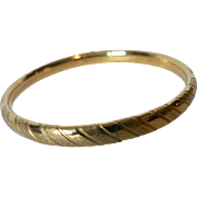 Vintage Kiddie Kraft 1/20 12Kt Gold Fill Childs Bangle Bracelet with Slide Opening