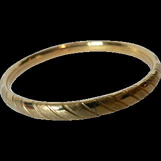 Vintage Kiddie Kraft 1/20 12Kt Gold Fill Childs Bangle Bracelet with Slide Opening