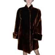 1930s Moulieres Paris France Dyed Mouton Lamb Fur Coat Gorgeous!