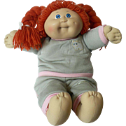 Original Red Head Cabbage Patch Kids Doll in Cabbage Patch Jogging Outfit Soft Sculpture