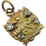 BUICK Parts Master 10k Gold and Diamonds Charm