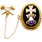 10k Gold Catholic Daughters of the Americas Past Grand Regent PIn with Gavel