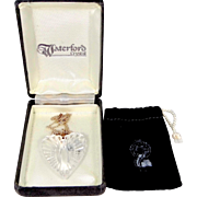 Waterford Crystal Heart Necklace Sterling Silver Mint in Original Box