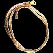 "14k Diamond Cut 16"" Long Necklace Chain"