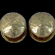 B & W Kum-a-Part 14k Gold Filled Art Deco Snap Cuff Links Cufflinks