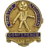 Vintage Chrysler Corp. Master Technician Conference Pin