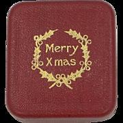 Cute Victorian Merry Xmas Ring Box