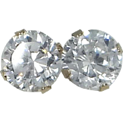 10k Gold 1.40 Carat Faux Diamond Stud Earrings