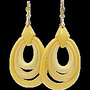 Vintage Celluloid Dangle Earrings
