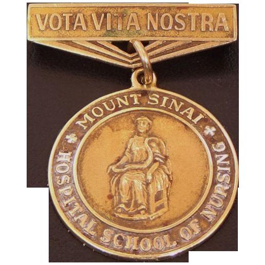14k Gold 1958 Mt. Sinai Hospital School of Nursing Pin