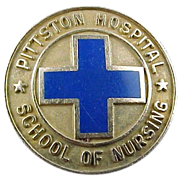 10k Solid Gold Pittston Hospital School of Nursing Pin