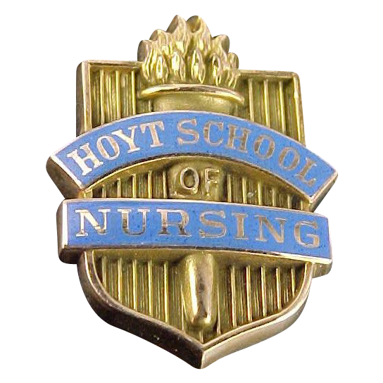 10k Enamel Hoyt School of Nursing Pin