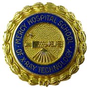 10K Gold Mercy Hospital School of X-Ray Technology Pin
