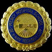 10K Gold Mercy Hospital School of X-Ray Technology Pin