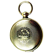 "Victorian Gold Fld ""Pocket Watch"" Figural Locket w/Ambrotype & Tintype"