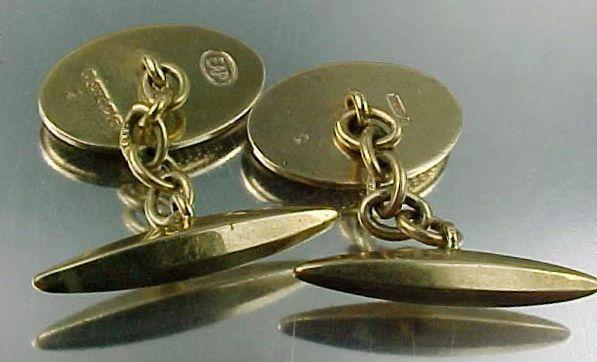 1930s 9k gold victorian cufflinks no monograms birmingham for Sell jewelry birmingham al