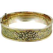 Victorian Gold Filled S.O. Bigney Co. Taille deEperne Bangle Bracelet
