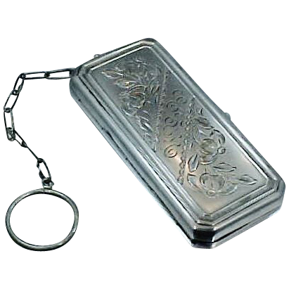 Victorian Sterling Silver Chatelaine Purse