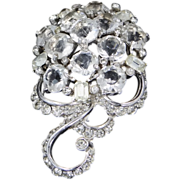 REJA Open Back Austrian Crystals Rhodium Plated Brooch