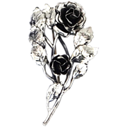 Danecraft Sterling Roses Brooch