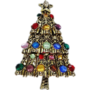Hollycraft Multi Color Christmas Tree Pin