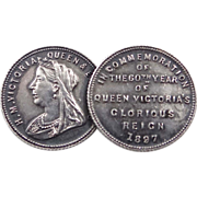 1897 Queen Victoria Commemorative Double Coins Pin