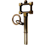 Victorian 14k Gold Watch Key