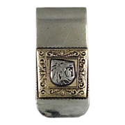 Taxco Sterling Aztec Warrior w/Lion Head Helmet Money Clip