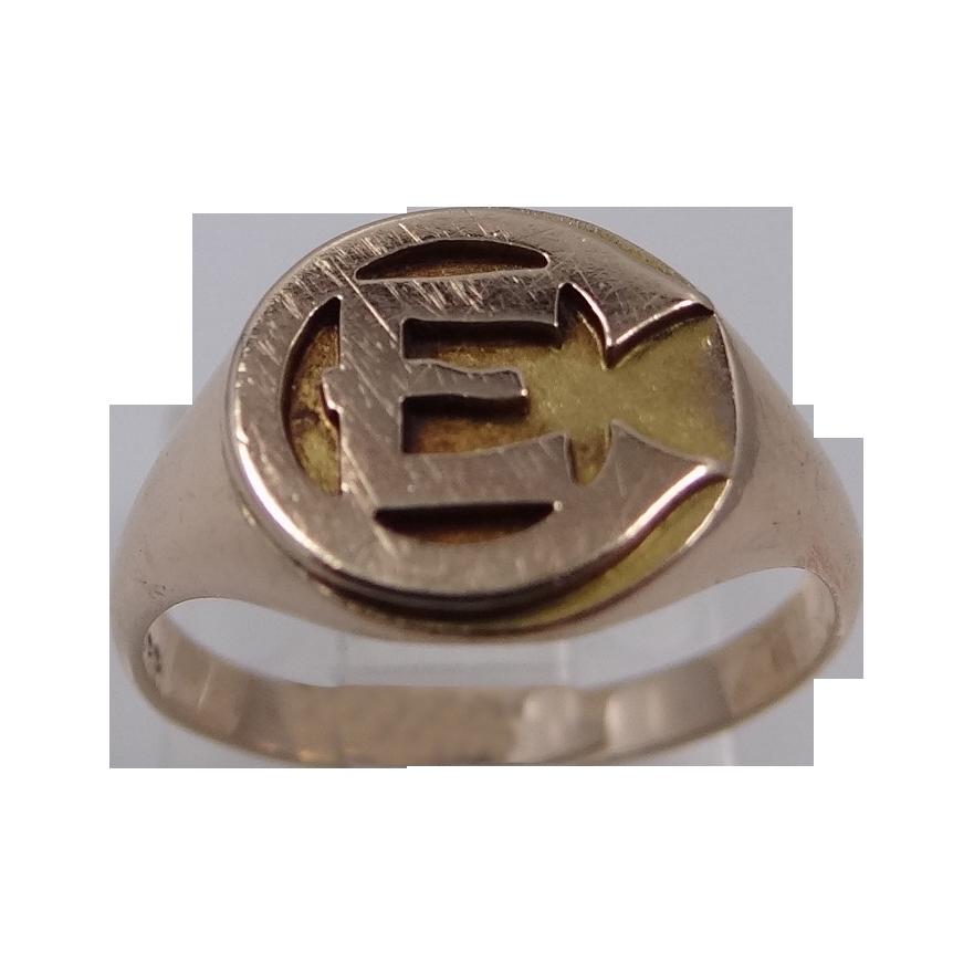 Emmanuel College 10k Gold College Ring Vintage