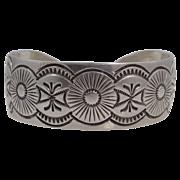 Vintage Navajo Blackgoat Solid Sterling Cuff Bracelet