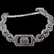 1920's Sterling Silver Marcasite Bracelet