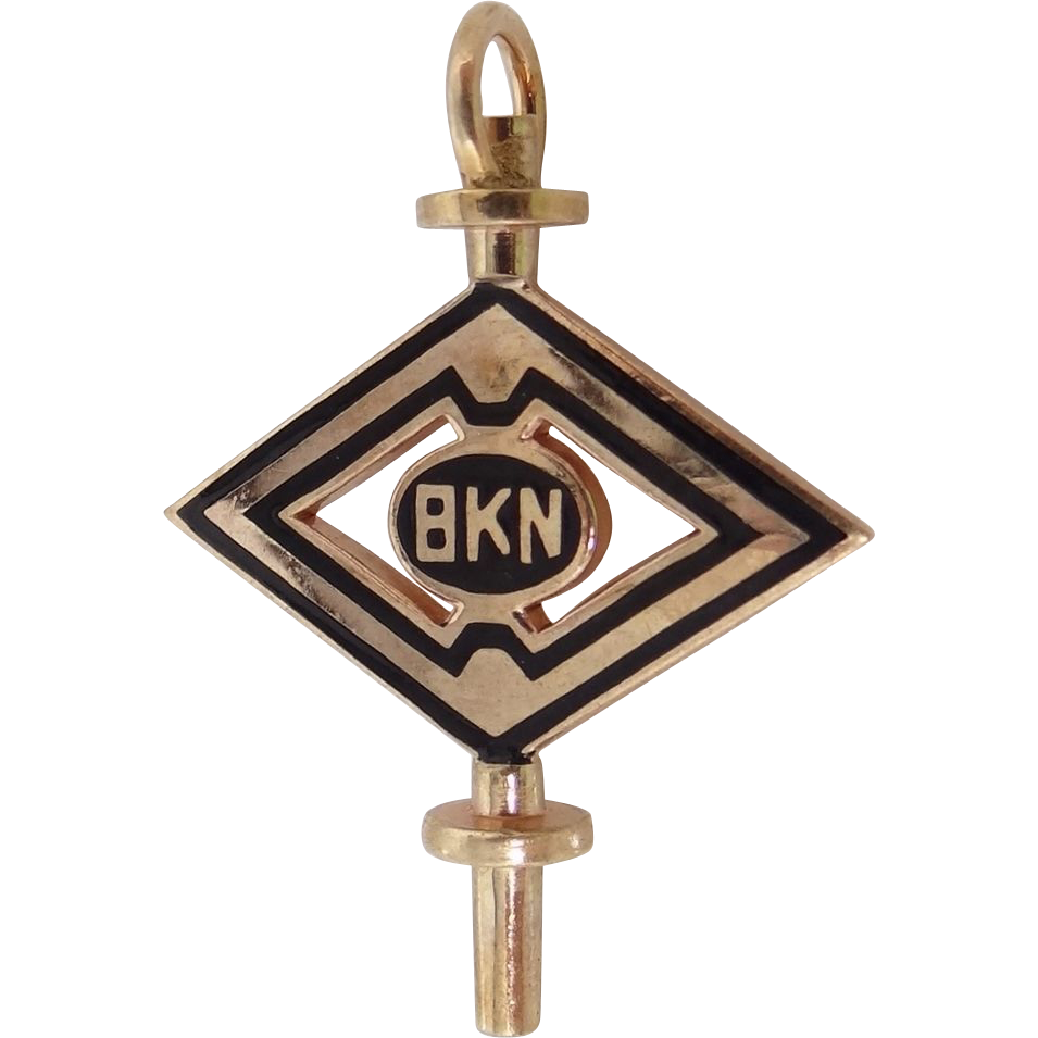 10k Gold BKN Fraternity Key Charm